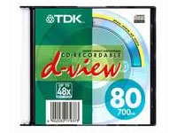 Диск CD-R Verbatim 80 min 700Mb  48x slim/10шт.